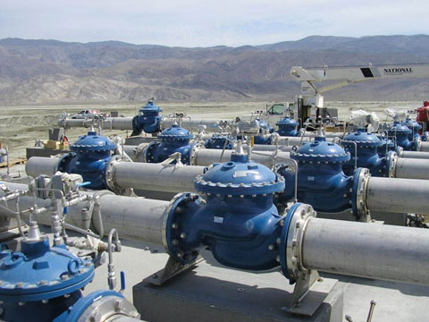 Installing computer operated control valves, LADWP Owens Lake, California